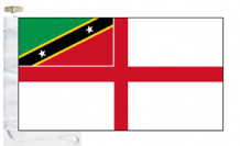 Saint Kitts and Nevis Navy Ensign Courtesy Boat Flags (Roped and Toggled)